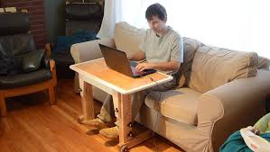 Laptop Chair Desk Knock Down Laptop Table For Couch Standup Desk Youtube