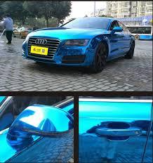 mirror vinyl. carlas blue chrome mirror vinyl with car wrapping uk o