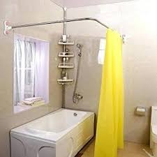 curved shower rod curtain for small stall target curved shower rod double crescent clothesline