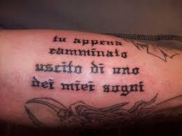 Italian Sayings Tattoos For Guys