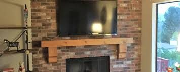 rustic fireplace mantle and flat screen tv installation in woodland hills ca