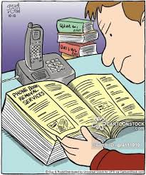 Business Phone Book Phone Book Cartoons And Comics Funny Pictures From Cartoonstock