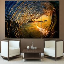 3 pcs canvas art huge waves seascape poster hd printed wall art home decor canvas painting picture prints free shipping ny 6600a on home decor wall art nz with huge three panel wall art nz buy new huge three panel wall art