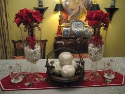 silver red dining room