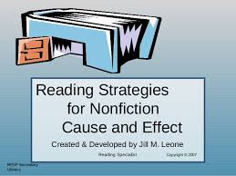 cause and effect powerpoint reading strategies for nonfiction cause and effect