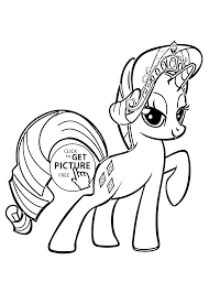 Small Picture Little Pony Rarity coloring pages for kids printable free