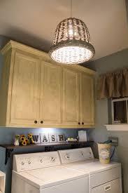 ... Outstanding Laundry Room Design With Lighting Fixtures : Amazing Laundry  Room Decoration With Round Rattan Lighting ...