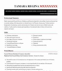 30 Morticians And Embalmers Resume Examples In Kansas Livecareer