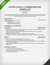 Sample Resume For Cashier Jmckell Com