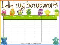Free Homework Chart 16 Best Homework Chart Images Chores For Kids Chore Chart