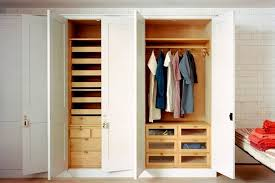 closet with built in bed