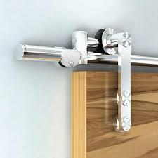 brushed nickel barn door hardware single door kit stainless brushed nickel steel sliding barn door hardware