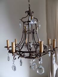 creative home design pleasant antique french massive hand forged wrought iron chandelier lorella dia regarding