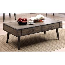 Industrial Style Coffee Tables Furniture Of America Bradensbrook Mid Century Modern Industrial