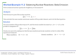 worked example 11 2 balancing nuclear reactions beta emission
