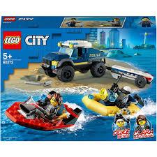 Đồ chơi LEGO CITY - Xe & Thuyền Cảnh Sát Truy Đuổi Tội Phạm Trên Sông - Mã  SP 60272