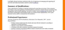 Ophthalmic Technician Resume Sample Veterinary Template Info Vet ...