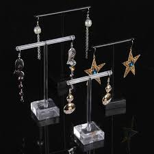 Earring Display Stands Wholesale TONVIC Wholesale 100 Sets BlackTransparent Acrylic Earring Display 51