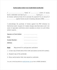 Template Authorization Letter Credit Card Fresh Sample Authorization