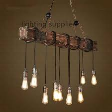 vintage style lighting fixtures. New Edison Style Lamps Or Vintage Lighting Loft Creative Wooden Pendant Light Fixtures For