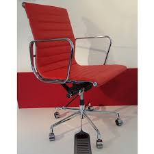 coloured office chairs. Ribbed Leather Office Chair - Red Coloured Chairs