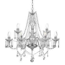 dar katie 9 light chandelier polished chrome