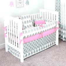 pink nursery bedding peach baby sets for girls girl mini crib best and mint elephant be