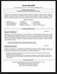 General Contractor Resume Resume Templates