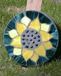 sunflower stepping stones