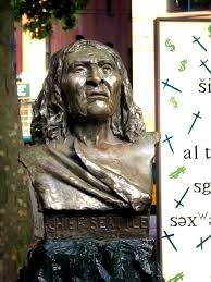 chief seattle  chief seattle s bust in the city of seattle