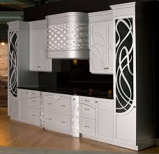 outdtanding black and white art deco kitchen cabinets with