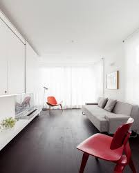 Narrow Living Room Idea With Long Sofa And Space Saver Intended Long Thin Living Room Ideas