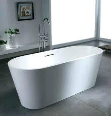 x man made stone freestanding bathtub with center drain tub blu