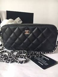 chanel zip wallet. image is loading chanel-new-double-zip-wallet-with-chain-black chanel zip wallet