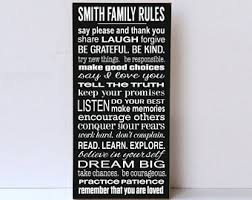 family rules wood sign personalized family rules large wood sign typography wall art word signs farmhouse decor family room decor on house rules wall art suppliers with family rules sign etsy