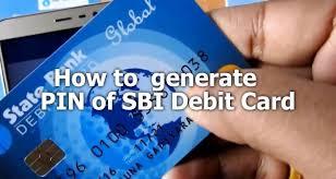 can generate pin of sbi debit card