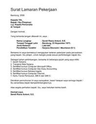 Awesome Collection of Contoh Job Application Letter Bahasa Indonesia In  Layout KampusUNJ com