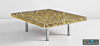 table d or contemporary art as modern luxury furniture spotlighting the yves klein