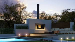 outdoor fireplaces ideas with modern concept  twipik