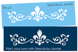 scroll fleur stencil shabby french chic border design signs wall art you paint