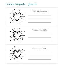 Free Templates For Coupons Babysitting Voucher Template