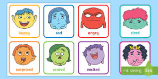 Emotions Chart For Kindergarten My Emotions Primary Resources