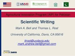 Scientific Writing Scientific Writing In Agriculture 2015