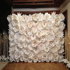 White Paper Flower Wall Customized Personalized Handmade Giant Cardboard Paper Flower Set