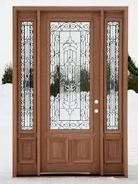 exterior doors with glass designs
