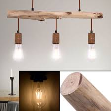 Details Zu Retro Decken Hänge Lampe Wohn Zimmer Vintage Holz Balken Pendel Leuchte Rost
