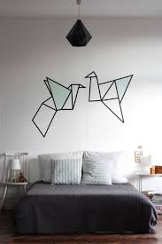 Wall Patterns With Tape Best 25 Origami Wall Art Ideas On Pinterest Origami Decoration