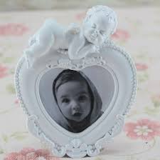 2018 2016 new photo frames white resin rectangle bedroom decor cupid angel baby birthday creative gift kids mini picture photo frame from blithenice