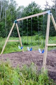Swing Set Designs Diy How To Build A Wooden Swing Set The Easy Way Swings In