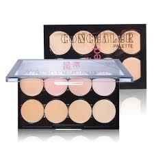 ushas brand 8 color concealer cream contour palette face makeup kit bronzer highlighter base primer foundation